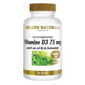 Golden Naturals Vitamine D3 75 µg 360 capsules