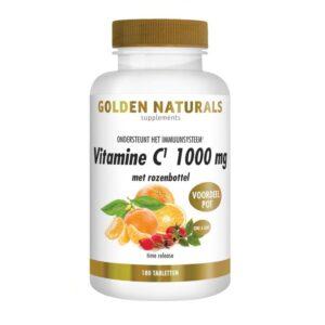 Golden Naturals Vitamine C 1000 mg met rozenbottel 180 tabletten