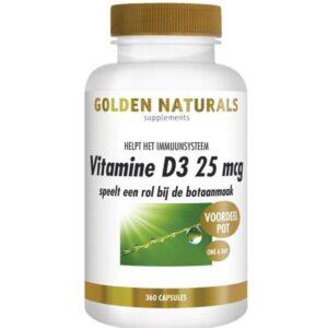 Golden Naturals Vitamine D3 25 µg 360 capsules