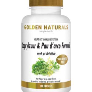 Golden Naturals Caprylzuur & Pau d'arco met probiotica 180 capsules