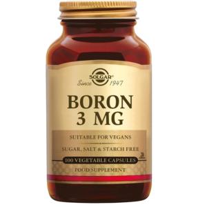 Solgar Boron 3 mg Borium plantaardige capsules 100 caps