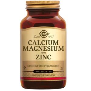 Solgar Calcium Magnesium plus Zinc tabletten