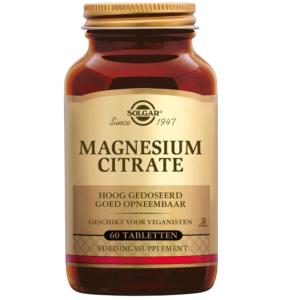 Solgar Magnesium Citrate tabletten 60 tabletten