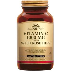 Solgar Vitamin C with Rose Hips 1000 mg tabletten