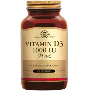 Solgar Vitamin D-3 1000 IU softgels 250 softgels